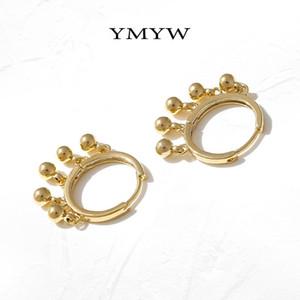 YMYW Trendy disegno rotondo Orecchini a cerchio per Gioielli Orecchini Texture Donne Gold Metal Rame Pendientes Mujer Moda Partito 2020