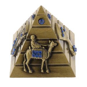 Vintage Metal Modelo Egipcio Decoración de Souvenir Pyramids Estatuas Pirámides Adornos Edificio Viajar Escritorio Bqaho