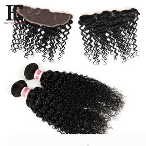 7A Mongolian Kinky Curly Hair With Closure Full Lace Frontal 2 Bundles With Frontal Closure Human Hair Bundles With Lace Frontal