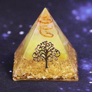 Yaşam Enerjisi Lucky Ceregat Piramit Enerji Converter Orgonite Piramit Ağacı Servet ve Refah Reçine Ev Dekorasyonu Süsleme toplayın için