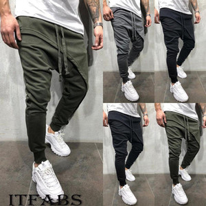 Nouvelle Tendance Pantalons simple Pantalons Survêtement Fit Workout Joggers Sweatpants Pantalon Hip Hop M-3XL