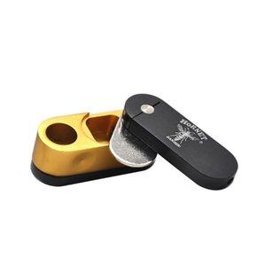 Neue Art der freien Handpfeifentabak-Düse Metal Bullet Aluminium Double Rotating Portable Pipe