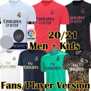 2020 4º Fãs 2021 New Real Madrid Player Versão PERIGO Futebol MODRIC SERGIO RAMOS ASENSIO MARCELO VALVERDE camisa de futebol Kit Crianças