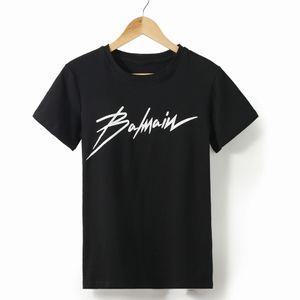 Женская 2019 весна-лето новый дизайнер футболка с горячим тиснением буквы хлопок с короткими рукавами футболка с круглым вырезом для женщин