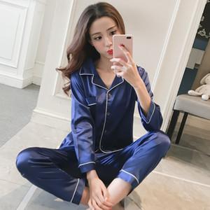 Женские пижамы Zoolim большой размер M-5XL атласные женщины Pajamas наборы 2 шт. Шелковый салон для сна Входная одежда ночная одежда Pijama