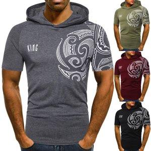 Mens Summer Tshirts Designer Ethnic Style Tess Casual Short Sleeve Hooded Tshirts Fshion Narural Color Mens Tees