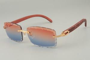 جديدة محفورة باليد نمط المعبد الخشبي والنظارات، والنظارات الشمسية 8100915 شخصية مخصصة، محفورة العدسات عدسة اللون والحجم: 56-18-135mm