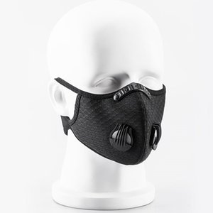 Cycling Protective Face Masks With Filter Black PM2.5 Anti-Pollution Dust Sports Running Training Road Bike Reusable Valve Masks