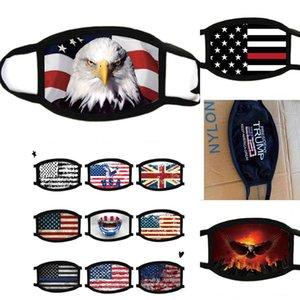 Лицевые маски Trump Американский Избирательные Поставки пылезащитные маски для печати Универсальный для мужчин и женщин американский флаг маска Бесплатная доставка
