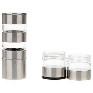 Sel manuel en acier inoxydable et Peper Grinder, Moulin à poivre multi-couches Shaker, le sel et Peper Mill avec grossièreté réglable