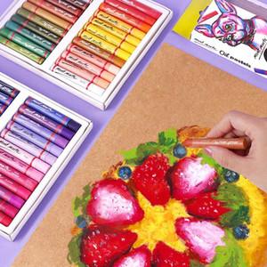 12/24/48 무거운 파스텔 컬러 오일 지팡이 예술로 설정 Oil Pastels 기성 크레용 어린이의 그림이 될 수 있습 흑백