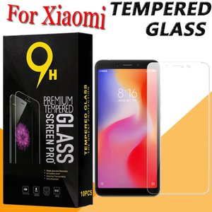Pantalla 9H vidrio templado protector de la película protectora para Xiaomi MI 9 8 6 SE Plus 6X 9T 9X CC9 CC9E Nota Mix Max 3 F1 con Box Pro