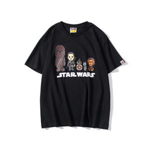 Hombres Mujeres Brandt estrella guerra Camisetas designershirts las camisas de lujo Calle Hiphop camisetas del verano camisetas de manga corta con capucha B20022002T