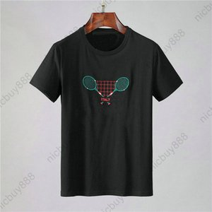 Designer luxury clothing summer mens europe tag italy T-shirt color embroidery tennis racket letter tshirt Tee Casual tshirts t shirt Top