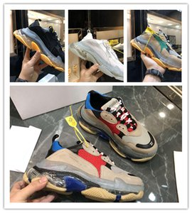 2020 Fashion Crystal Bottom Casual Shoes Triple S Track Old Dad Sneaker Combination Nitrogen Outsole Mens Tripler Sneakers
