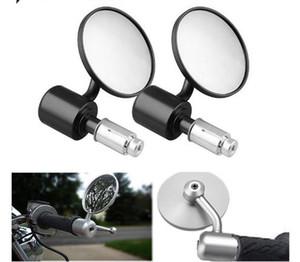 """1 par de 7/8"""" da motocicleta Espelho Retrovisor Rodada guiador Bar End espelhos retrovisores Motociclo Side Espelho Para Honda Kawasaki"""