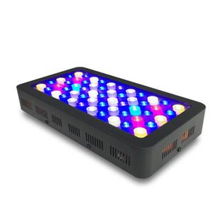 Dimmable LED Aquarium Light 165w, полный спектр для коралловых рифовых рыб пресноводных и морских резервуаров с морской водой квадратный алюминиевый корпус