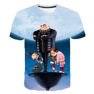 2020, moche et méchant moi Minions T-shirt Hommes Femmes d'été à manches courtes 3D T-shirt imprimé enfants Garçon Fille enfants T-shirt Vêtements