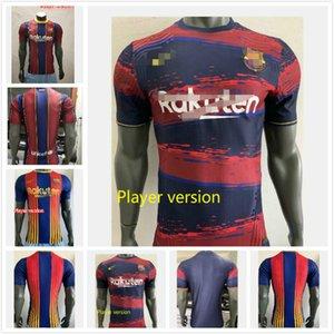 20-21 FC BarcelonaL Soccer Jerseys 21 F.DE JONG 17 GRIEZMANN 11 O.DEMBELE Player Version Men Kit Set Uniform Jersey