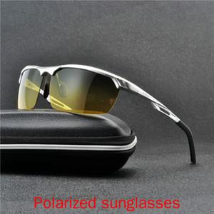 2020 Men Polarizer Eyewear Polarized Glasses Car Drivers Night Vision Goggles Driving Aluminum Magnesium Sunglasses FML