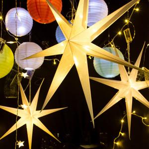 1pc 60 centimetri Grande perforato Star Party Hanging Stella di carta con perforato Pattens Wedding la festa di compleanno di Windows Camino tavolo da pranzo