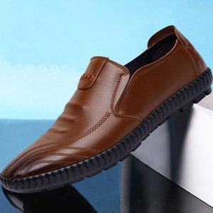 2019 Classic Comfortable Men Casual Shoes Loafers Men Quality Split Leather Shoes Men Flats Hot Sale Leather Casual