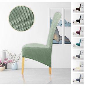 Leorate 10 cores Elastic Cadeira Capa Polar Tecido XL Tamanho Longo Voltar encosto alto capas de cadeira de assento para Início Banquete do partido
