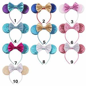 Mädchen-Prinzessin Sequin Bogen Haarschmuck Mouse-Ohren Stirnband-Haar-Stöcke Babykinder nette Halloween Weihnachten Cosplay Kopfschmuck-Hoop