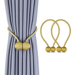 Magnetic simples bola novo Pearl Curtain Tie Rope Acessório Rods Accessoires Faz Holdbacks Buckle clipes gancho Titular Home Decor