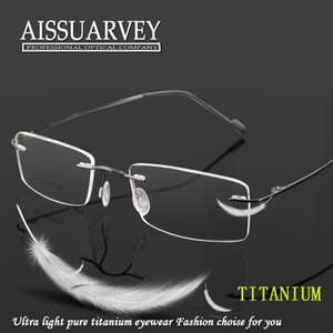 Hommes montures de lunettes en titane sans monture Mode mince Marque Lunettes prescription Top qualité Lunettes Lunettes flexible