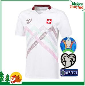 멀리 2020 스위스 축구 유니폼 흰색 2021 스위스 Akanji 리아 로드리게스 Elvedi 국가 대표팀 축구 셔츠