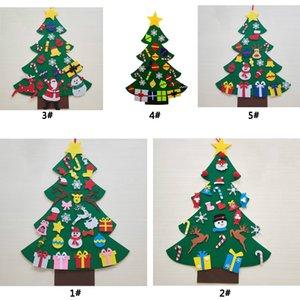 DIY Filz Weihnachtsbaum Ornament Kinder Spielzeug Künstliche Weihnachtsbaum Wandbehang Ornaments Startseite Weihnachtsdekoration Weihnachtsgeschenk DBC VT1070