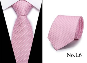 al por mayor Nueva rayas corbata de seda de lujo 7.5cm Paisley Corbata roja Bule púrpura corbata para los hombres de negocios del partido formal de la boda corbata