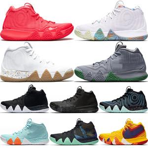 2019 Queda Irving 4 Sapatos De Basquete Para Homens Venda Barato Kyrie Calçados Esportivos Lobo Cinza Equipe Formadores Vermelhos BasketBall Sapatos de Tênis De Designer Si