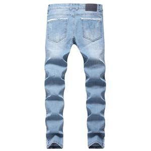 Femmes Skateboard Designer Ripped Biker Jeans Pantalones 19SS Automne Slim Fit Jean Men