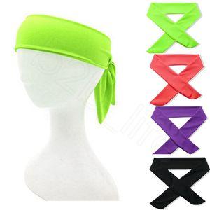 Sport Elastische Stirnband Männer Frauen Lauf Fitness Dochting und Schnelltrocknung Basketball Tennis Yoga Sweatband Bunte HHA527