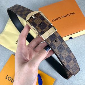 2019Hot marca de moda hombre de cuero botón liso casual de negocios capa superior cinturón de piel de vaca pura de la edición de han juvenil handmadefree envío