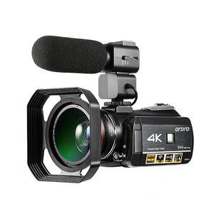 Ordro 4k WIFI vídeo câmera digital de 3.0 '' Ecrã Toque WIFI Night Vision Vídeo Digital Camcorder Camara De Vídeo Profesional
