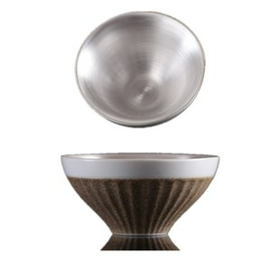 999 Gümüş Çay Kupası Potery Pocelain Küçük Çay Bowl Japon Master Cup Vintage Tek Çay Kupası
