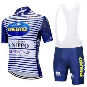 2020 DELKO Cycling Team vêtements jersey vêtements vélo Shorts vélos à séchage rapide des hommes été PRO vélo Maillots 20D vélo Pantalons