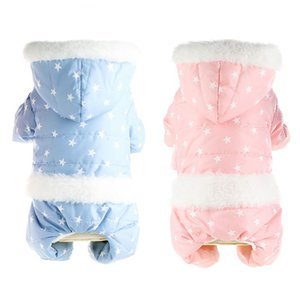 Snowsuit for Dogs Autumn and Winter Four-legged Cotton Padded Four Legs Multi Colors Clothes Super Warm and Thickening Jumpsuit