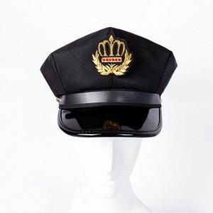 2019 New Fashion Cotton octogonal Flat Top Army Cap Hommes Femmes capitaine de la marine Chapeau Outdoor Performance Casquettes Étudiant Chapeau de sécurité
