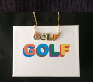 GOLF WANG 3D 로고 목걸이 힙합 패션 스케이트 보드 랩 패션 성격 목걸이