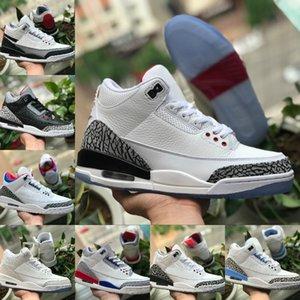2020 أحذية الرجال 3 3S كرة السلة نيكس ينافس III Jumpman JSP 3M TINKER SP أسود أسمنت UNC الأزرق PE موكا كاترينا الرياضة أحذية رياضية