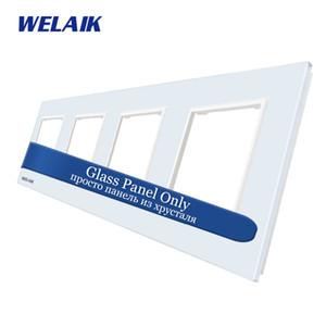 WELAIK UE 4Frame-cristallo-vetro pannello-Square-hole touch-Switch fai da te-Parts-Glass Panel-Only A48W1 T200605