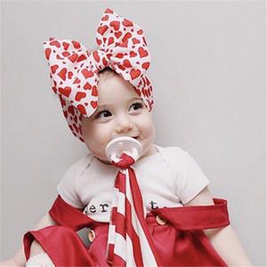 Ребёнки Цветочного диапазон волос Head Wrap ободки Дети Цветок лук Bowknot Упругих Hairwraps Новорожденного Headress аксессуары подарки партии D22604