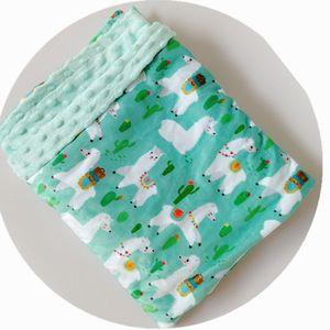 swaddle couverture dessin animé minky laine de corail doux thermique enfant en bas âge enfant hiver bébé deken couverture couverture arrière siège couverture bébé couette