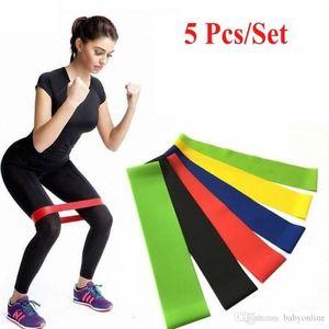 Tension Resistance Band Pilates Yoga-Widerstand-Bänder Gummi Fitness-Schleife Seil Stretch Bands Crossfit Elastic Gym Training Tools FY7008