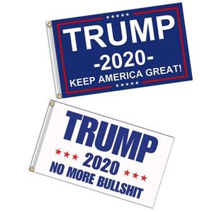 120pcs 90*150cm Trump 2020 Flag Print Keep America Great Banner Garden Donald Flags Polyester Decor Banner