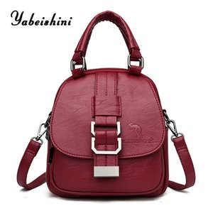 High quality women Leather Backpack Kangaroo brand travel backpack school bags for teenage girls Shoulder Bags Mochila Feminina